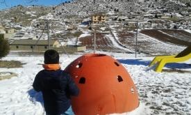 Bombardeo bolas nieve